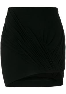 Yves Saint Laurent Saint Laurent ruched asymmetrical skirt - Black