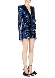 Yves Saint Laurent Saint Laurent Ruched Leather Dress