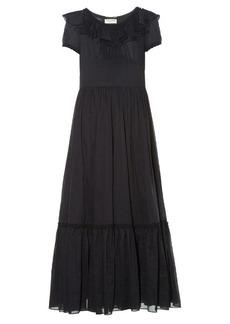 Yves Saint Laurent Saint Laurent Ruffled organza maxi dress