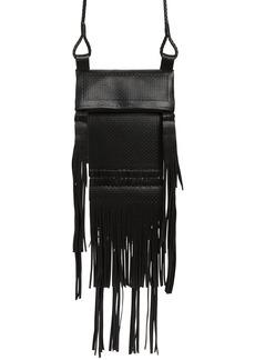 Yves Saint Laurent Saint Laurent Saharienne Fringe Leather Crossbody Bag