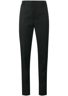 Saint Laurent satin stripe suit trousers - Black