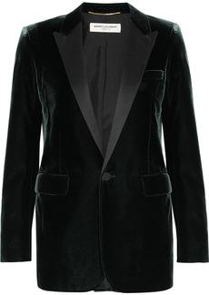 Yves Saint Laurent Saint Laurent Satin-trimmed velvet tuxedo blazer