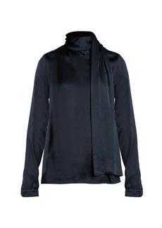 Yves Saint Laurent Saint Laurent Scarf-detail satin blouse