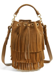 Yves Saint Laurent Saint Laurent 'Seau' Fringed Suede Bucket Bag