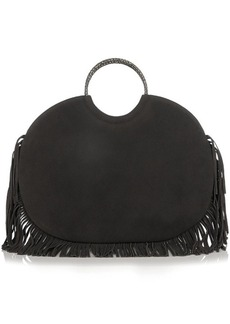 Yves Saint Laurent Saint Laurent Serpent classic bracelet fringed suede tote