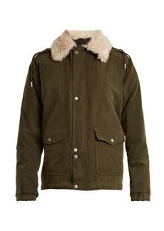Yves Saint Laurent Saint Laurent Shearling-collar cotton-blend gabardine parka