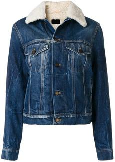 Yves Saint Laurent Saint Laurent shearling denim jacket - Blue
