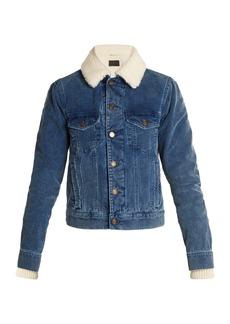 Yves Saint Laurent Saint Laurent Shearling-lined cotton-corduroy jacket