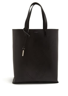 Yves Saint Laurent Saint Laurent Shopping perforated-logo leather tote bag