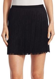 Saint Laurent Short Fringe Skirt