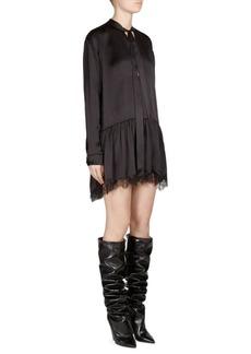 Saint Laurent Silk Lace Dress