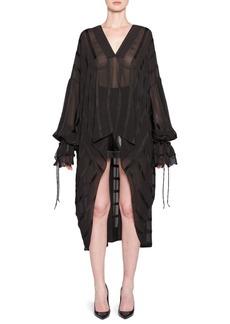 Yves Saint Laurent Silk Sheer Stripe Caftan