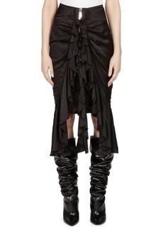 Yves Saint Laurent Silk Zip Front Skirt