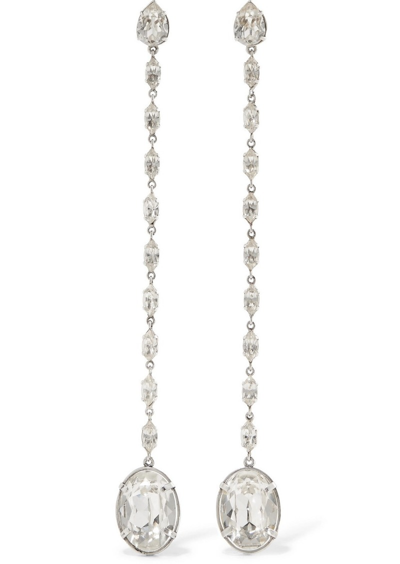 22f4fbba36 Silver-plated crystal clip-on earrings