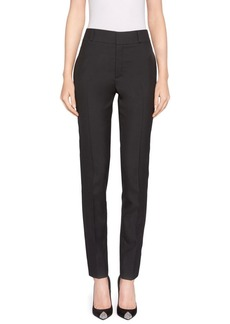 Skinny Wool Ankle Pants