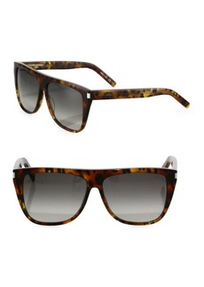 SL 1 59MM Leopard-Print Flat-Top Sunglasses