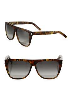 Yves Saint Laurent SL 1 59MM Leopard-Print Flat-Top Sunglasses