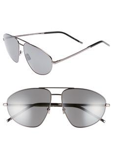Yves Saint Laurent Saint Laurent SL 211 60mm Aviator Sunglasses