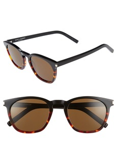 Saint Laurent SL 28 51mm Keyhole Sunglasses
