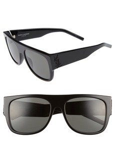 Saint Laurent SL M16 55mm Flat Top Sunglasses