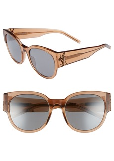 Saint Laurent SL M19 54mm Cat Eye Sunglasses