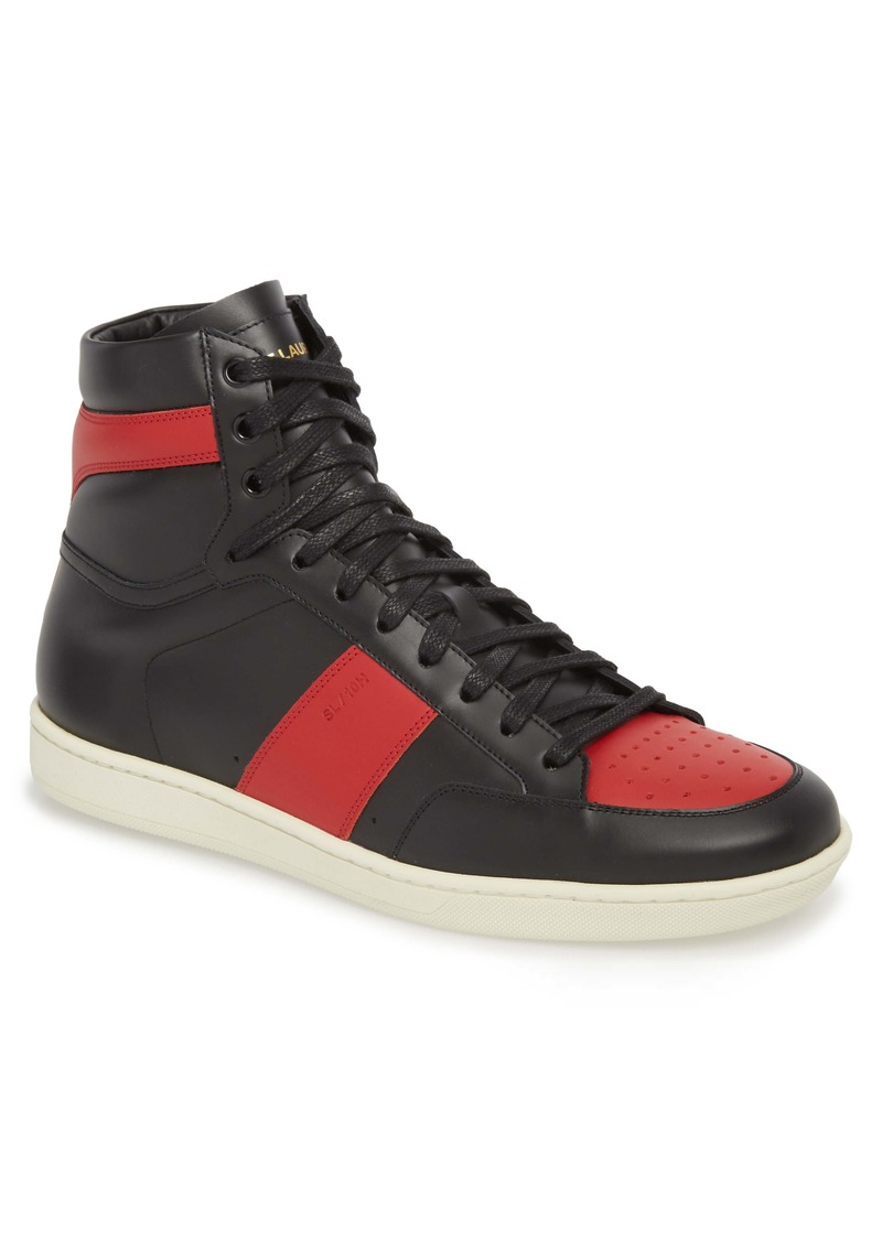 Yves Saint Laurent Saint Laurent SL/10H Signature Court Classic High Top Sneaker (Men)