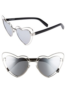 Saint Laurent SL197 LouLou 57mm Heart Shaped Sunglasses