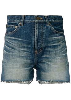 Yves Saint Laurent Saint Laurent slim denim shorts - Blue