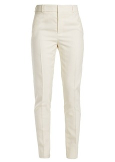 Saint Laurent Slim-leg wool-blend piqué trousers