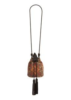 Yves Saint Laurent Saint Laurent Small Anja Tapestry Bucket Bag