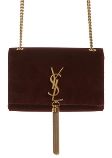 Saint Laurent Small Kate Tassel Velvet Crossbody Bag