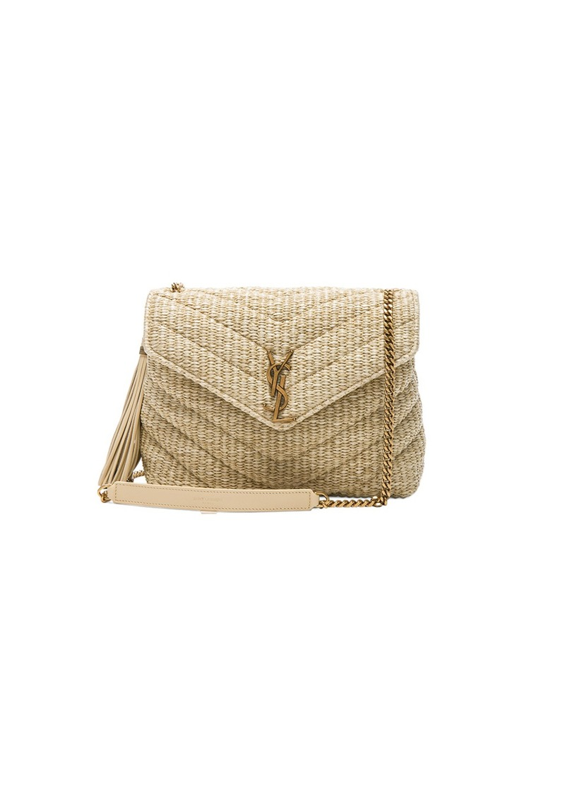 ec39803a0d6c Saint Laurent Small Raffia Soft Chain Bag