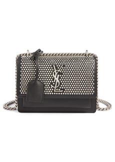 Yves Saint Laurent Saint Laurent Small Sunset Studded Leather Shoulder Bag