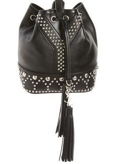 Yves Saint Laurent Saint Laurent Small Y Stud Calfskin Bucket Bag