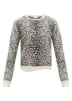 Yves Saint Laurent Saint Laurent Snow leopard-jacquard mohair-blend sweater