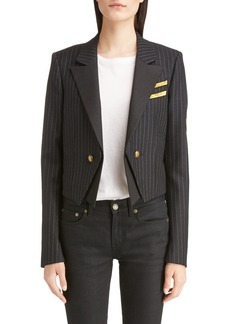 Yves Saint Laurent Saint Laurent Spencer Crop Military Jacket