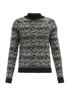 Yves Saint Laurent Saint Laurent Spider-web embroidered mohair-blend sweater