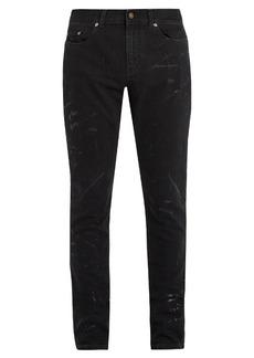 Yves Saint Laurent Saint Laurent Splatter-print skinny-fit jeans