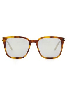 Yves Saint Laurent Saint Laurent Square-frame mirrored acetate sunglasses