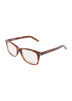 Yves Saint Laurent Saint Laurent Square Havana Acetate Optical Glasses