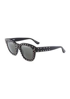 Yves Saint Laurent Saint Laurent Square Plastic Studded Sunglasses