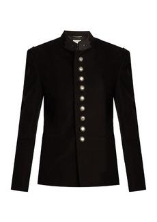 Saint Laurent Stand-collar cotton military jacket