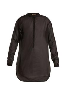 Saint Laurent Stand-collar cotton-voile shirt
