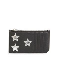 Yves Saint Laurent Star Applique Card Holder