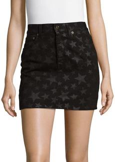 Yves Saint Laurent Star Cotton Mini Skirt