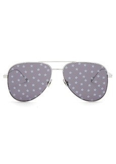 Yves Saint Laurent Saint Laurent Star-print aviator metal sunglasses