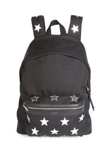 Yves Saint Laurent Star Print Backpack