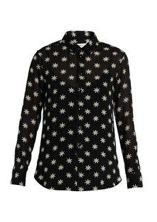 Saint Laurent Star-print silk shirt