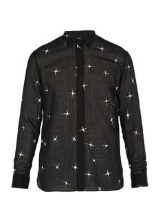 Yves Saint Laurent Saint Laurent Star-print wool-blend shirt