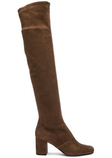 Yves Saint Laurent Saint Laurent Stretch Suede BB Over the Knee Boots